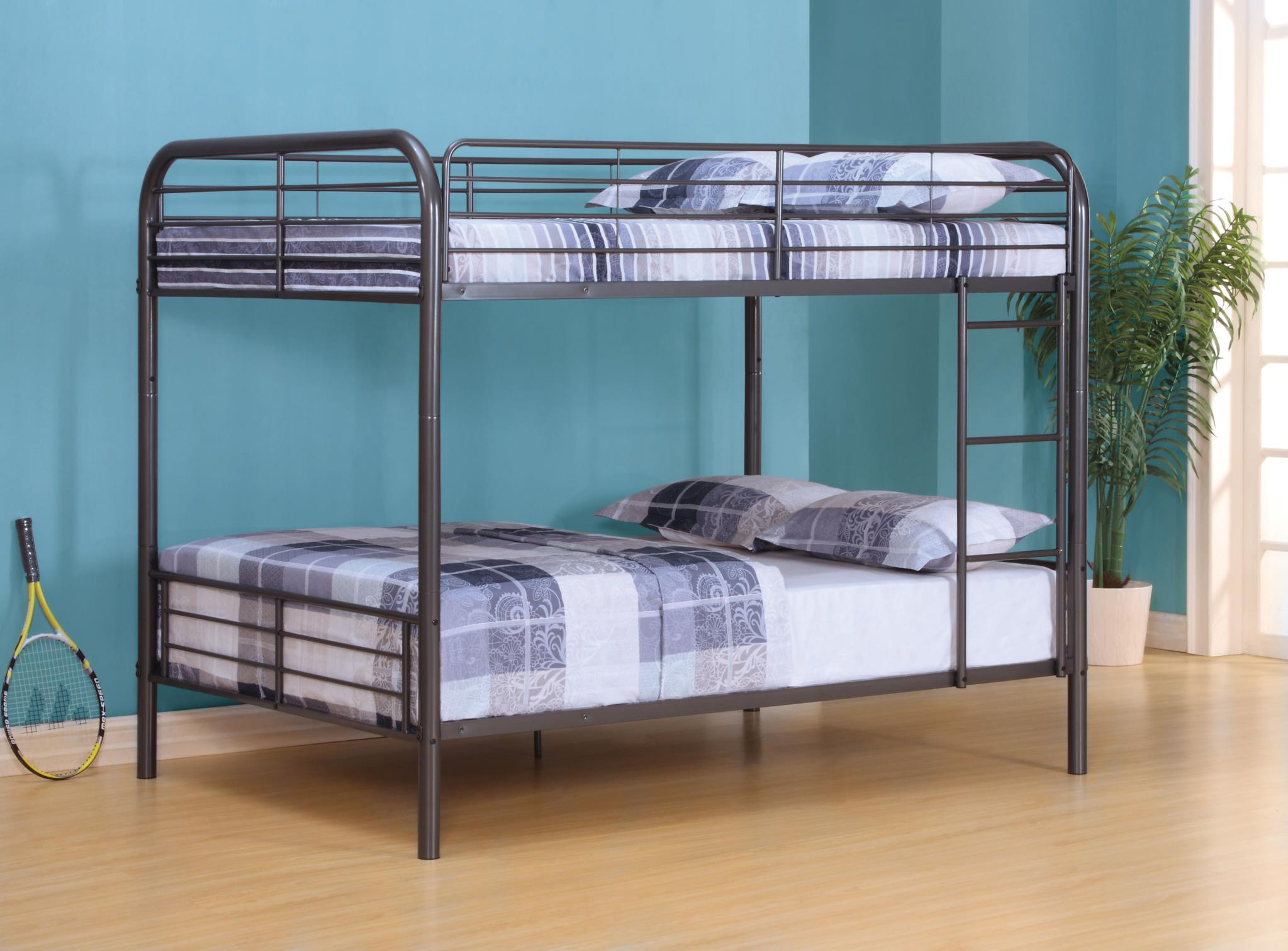 Gun Metal Full/Full Bunk Bed