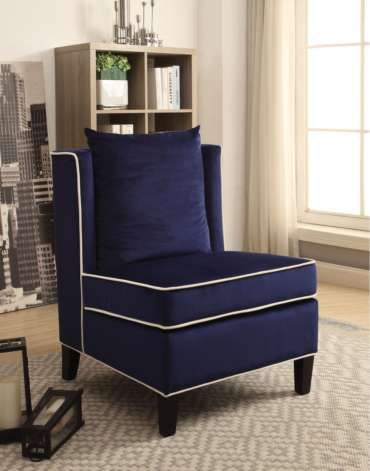 Dark Blue Accent Chair
