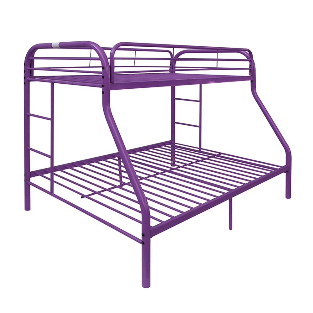 Purple Twin/Full Bunk Bed Angle