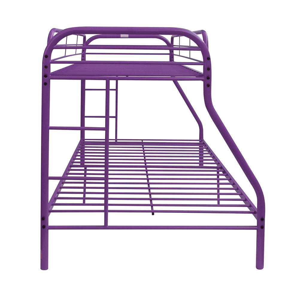 Purple Twin/Full Bunk Bed Side