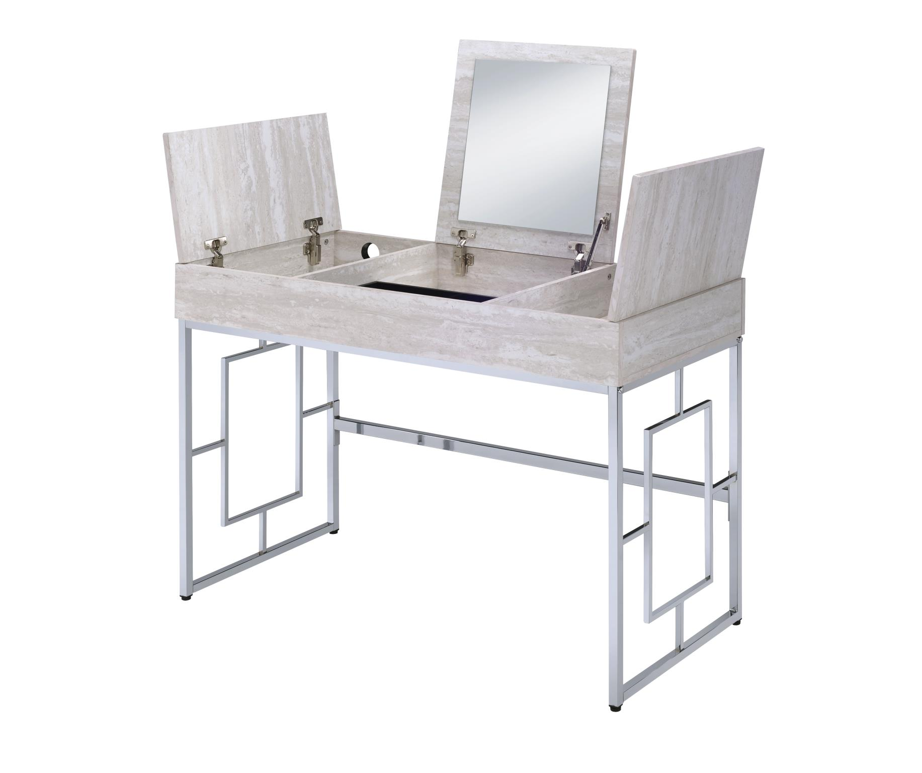 Saffron Vanity Desk With Lift Top Storage
