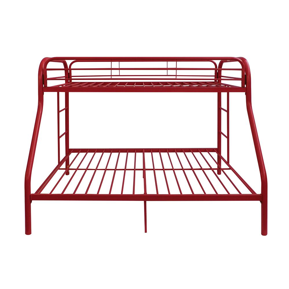 Red Twin/Full Bunk Bed Front