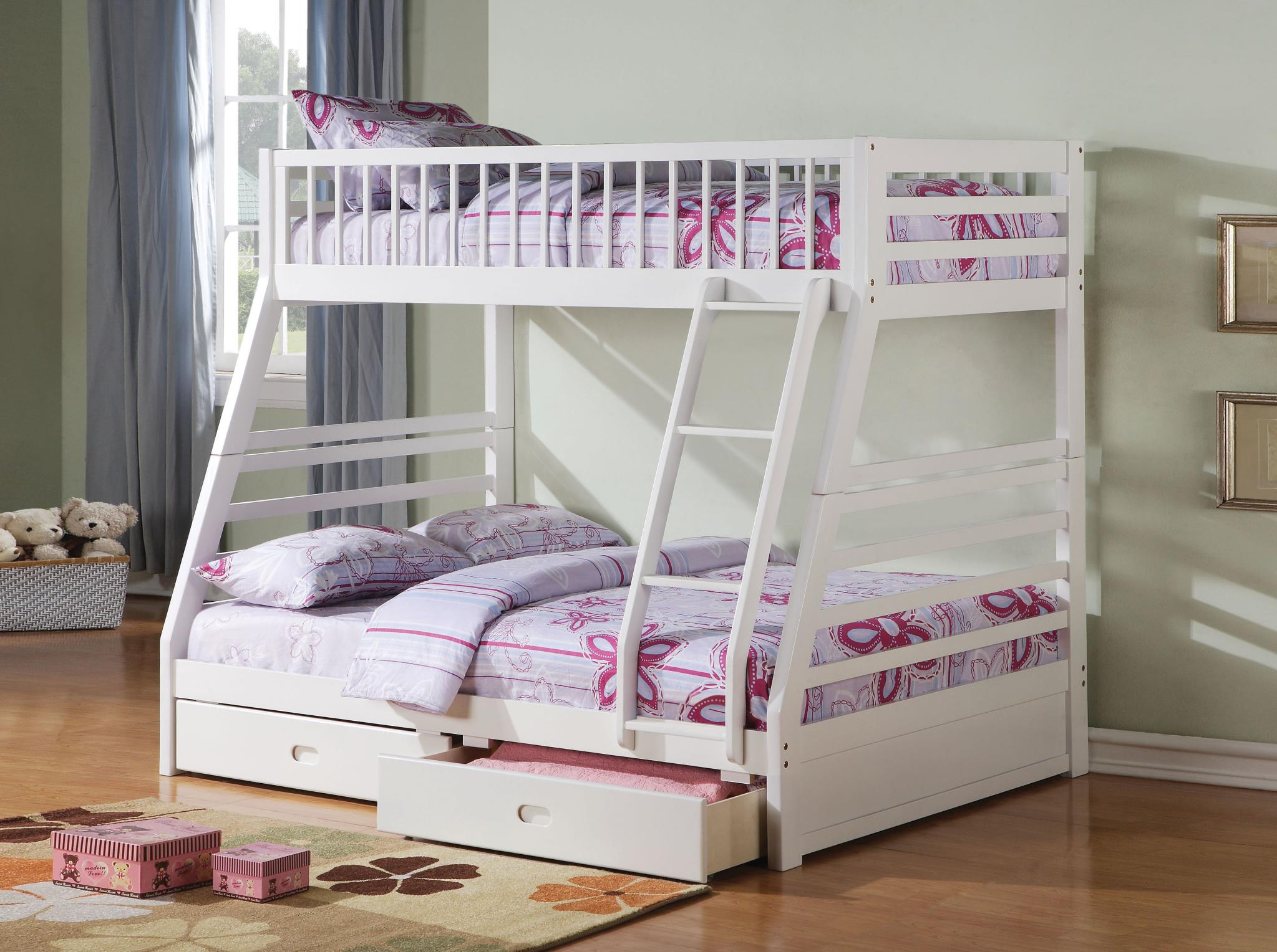 Twin/Full Bunk Bed w/ 2 Drawers