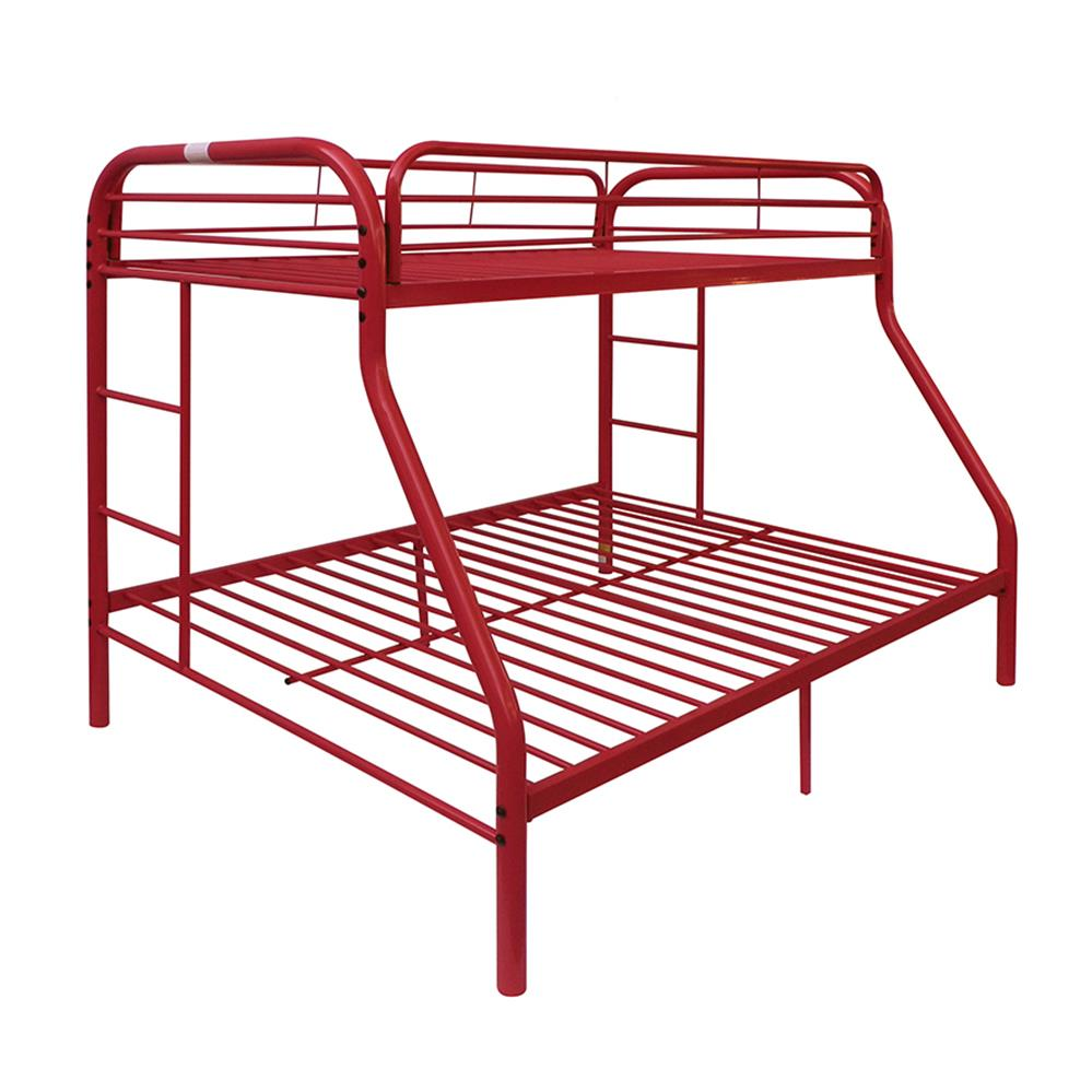 Red Twin/Full Bunk Bed Angle