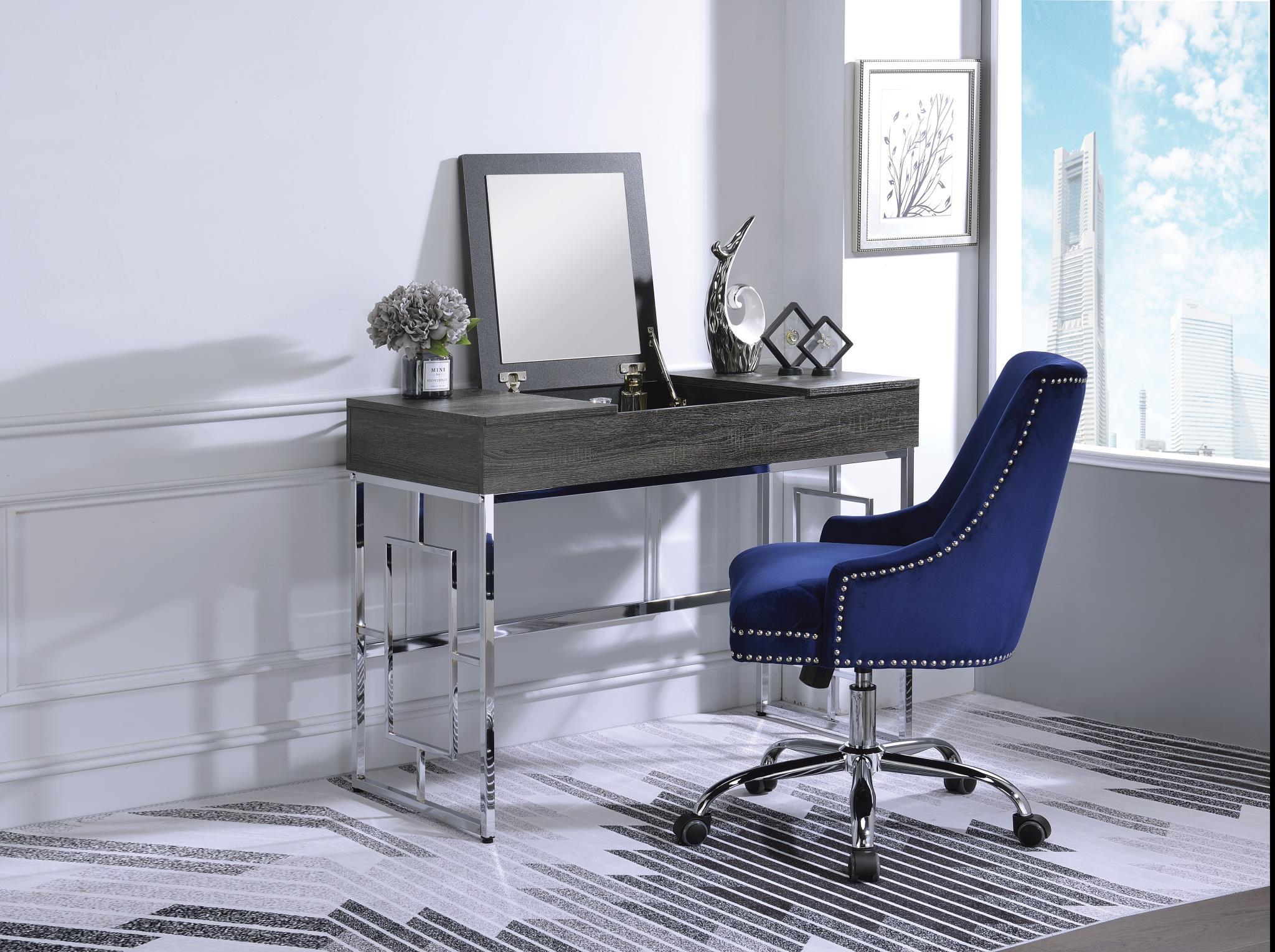 Black Oak Vanity Desk