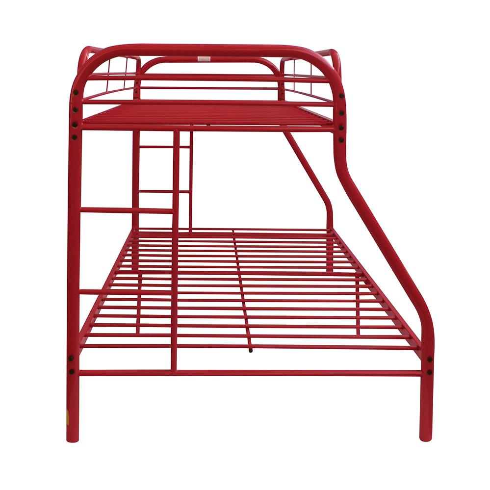 Red Twin/Full Bunk Bed Side