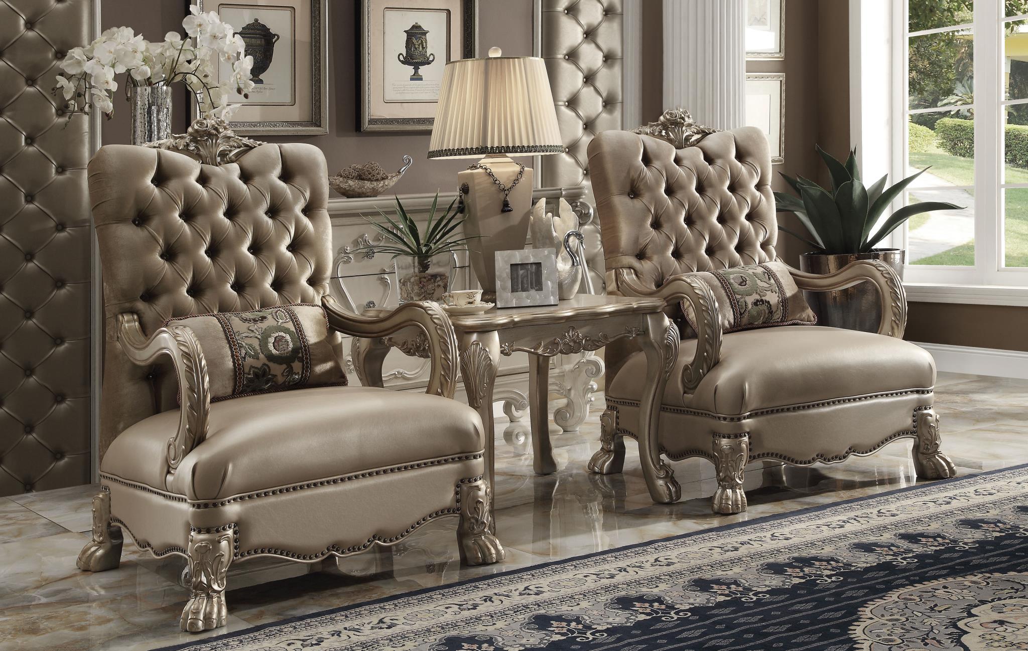 Bone Velvet 2 Chairs