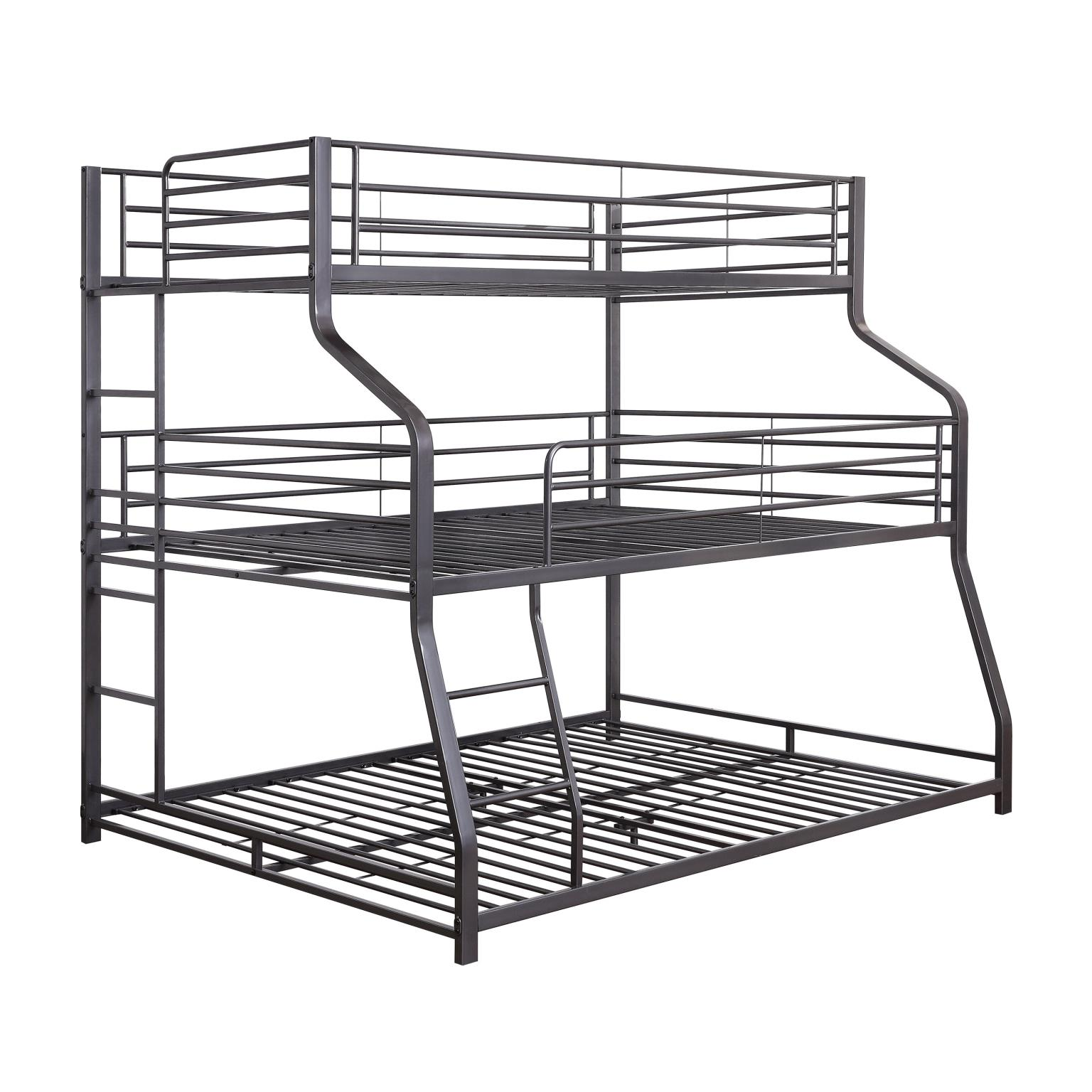 Three Layer Bunk Bed Frame Angle
