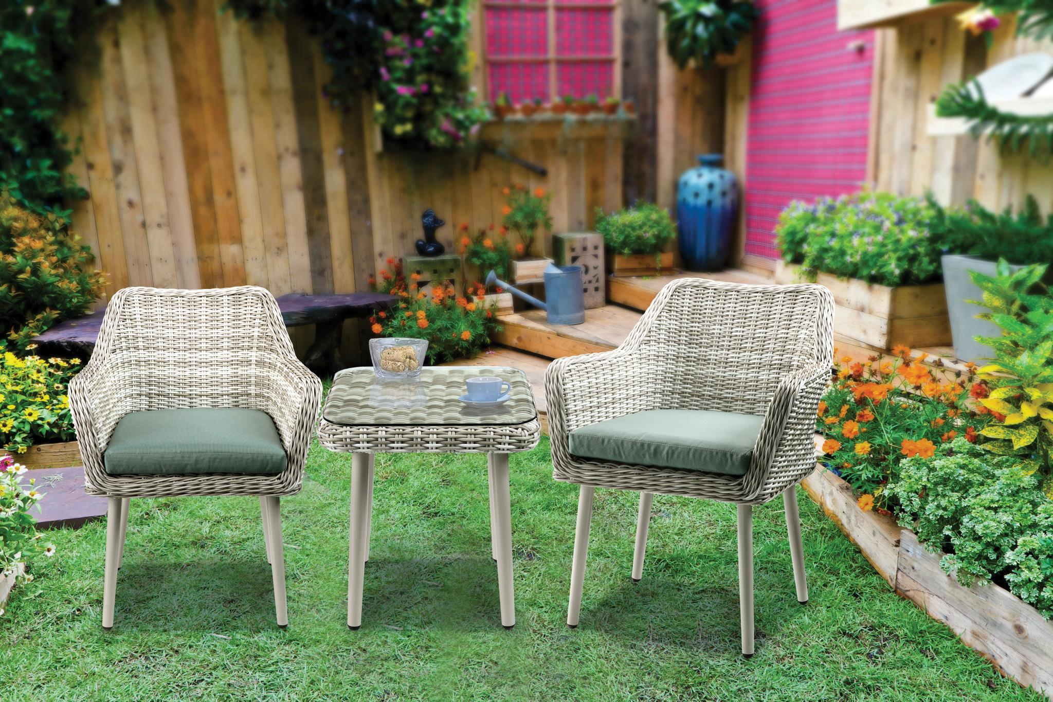 Complete 3 Piece Patio Bistro Set