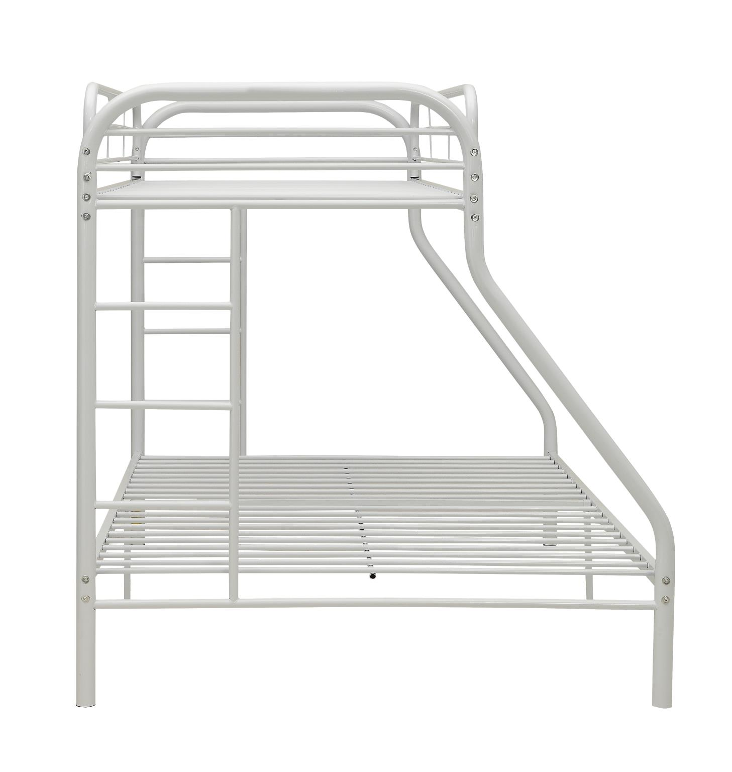 White Twin XL/Queen Bunk Bed Side