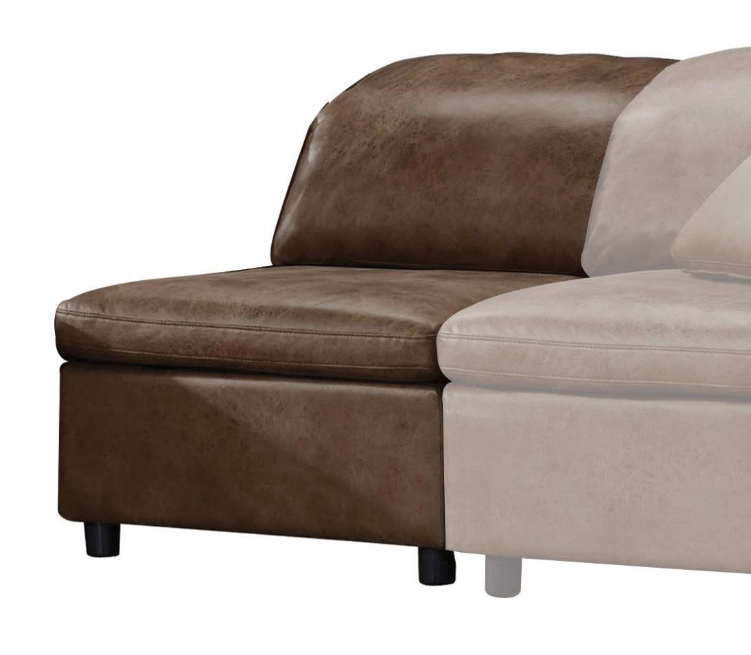 2-Tone Mocha Armless Chair