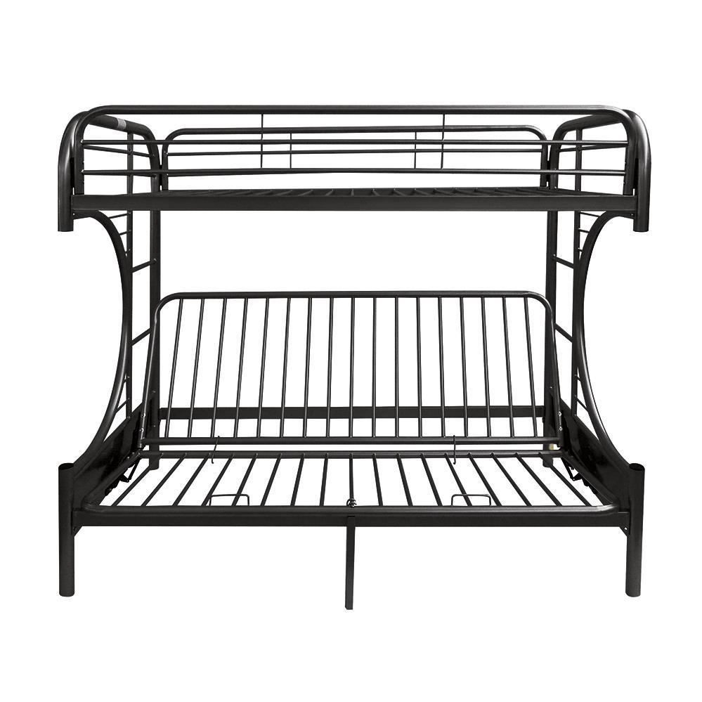 Black Twin XL/Queen Futon Bunk Bed Front