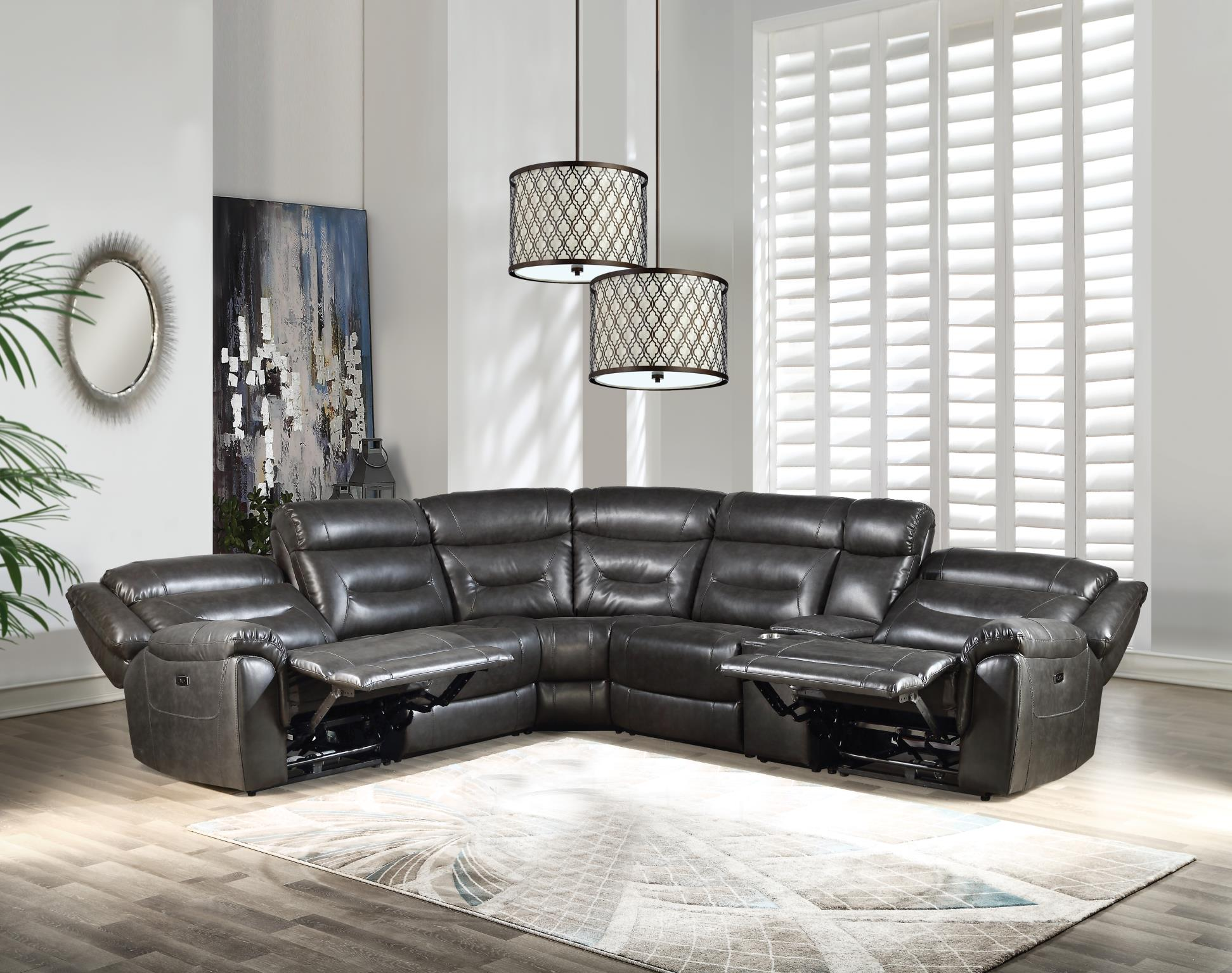 Complete Sectional Sofa w/ Reclined Seats