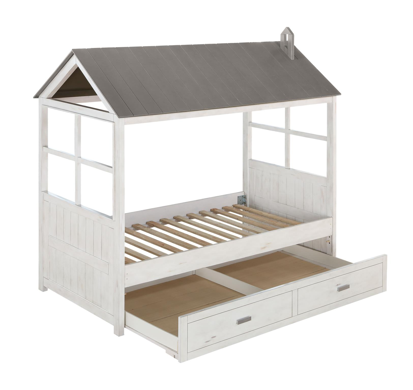 Twin Bed w/ Trundle Frame