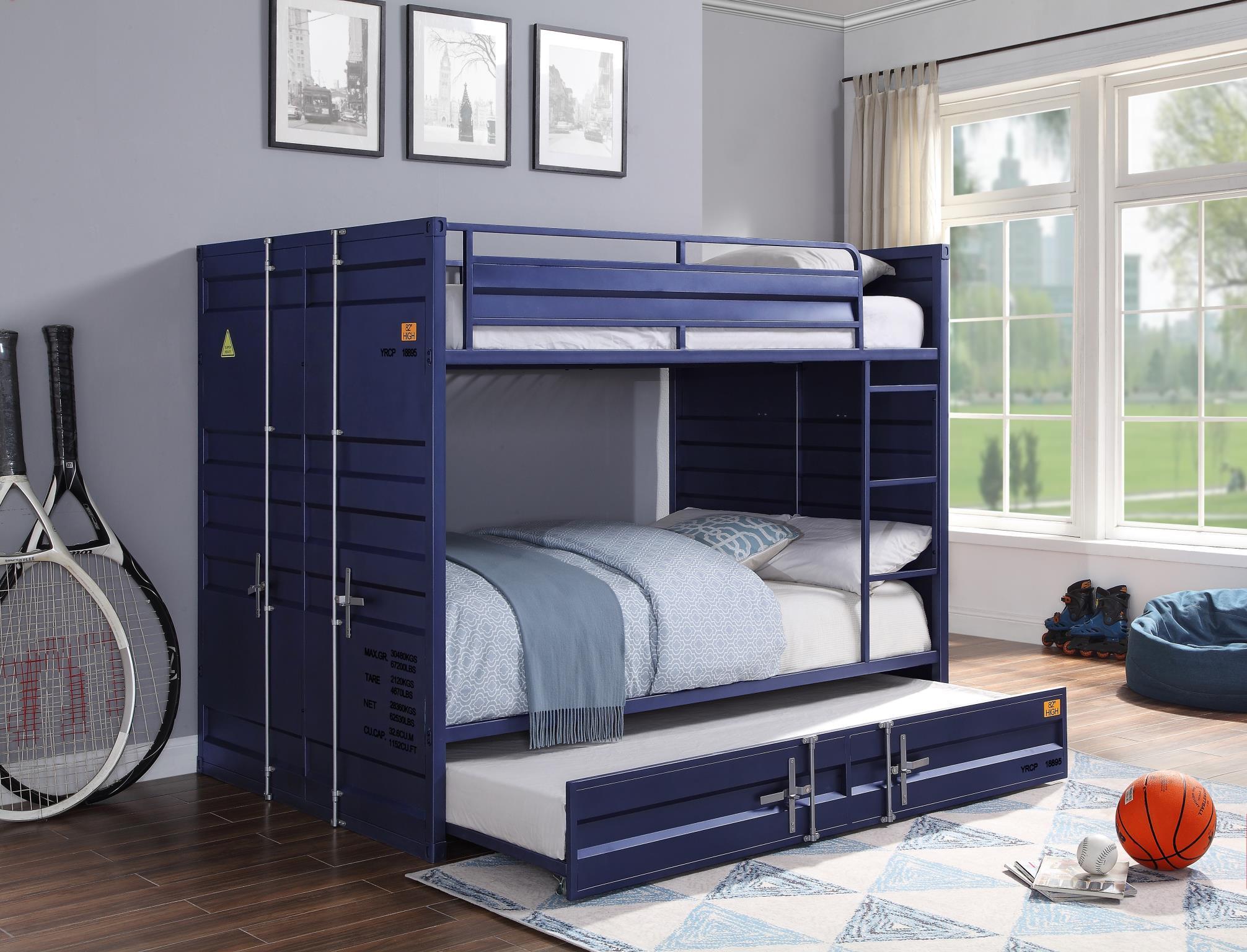 Blue Full/Full Bunk Bed