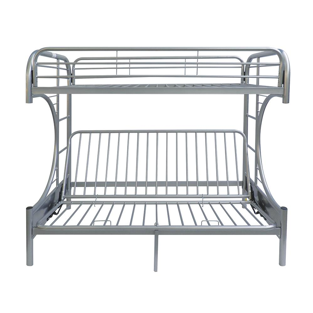 Silver Twin XL/Queen Futon Bunk Bed Front