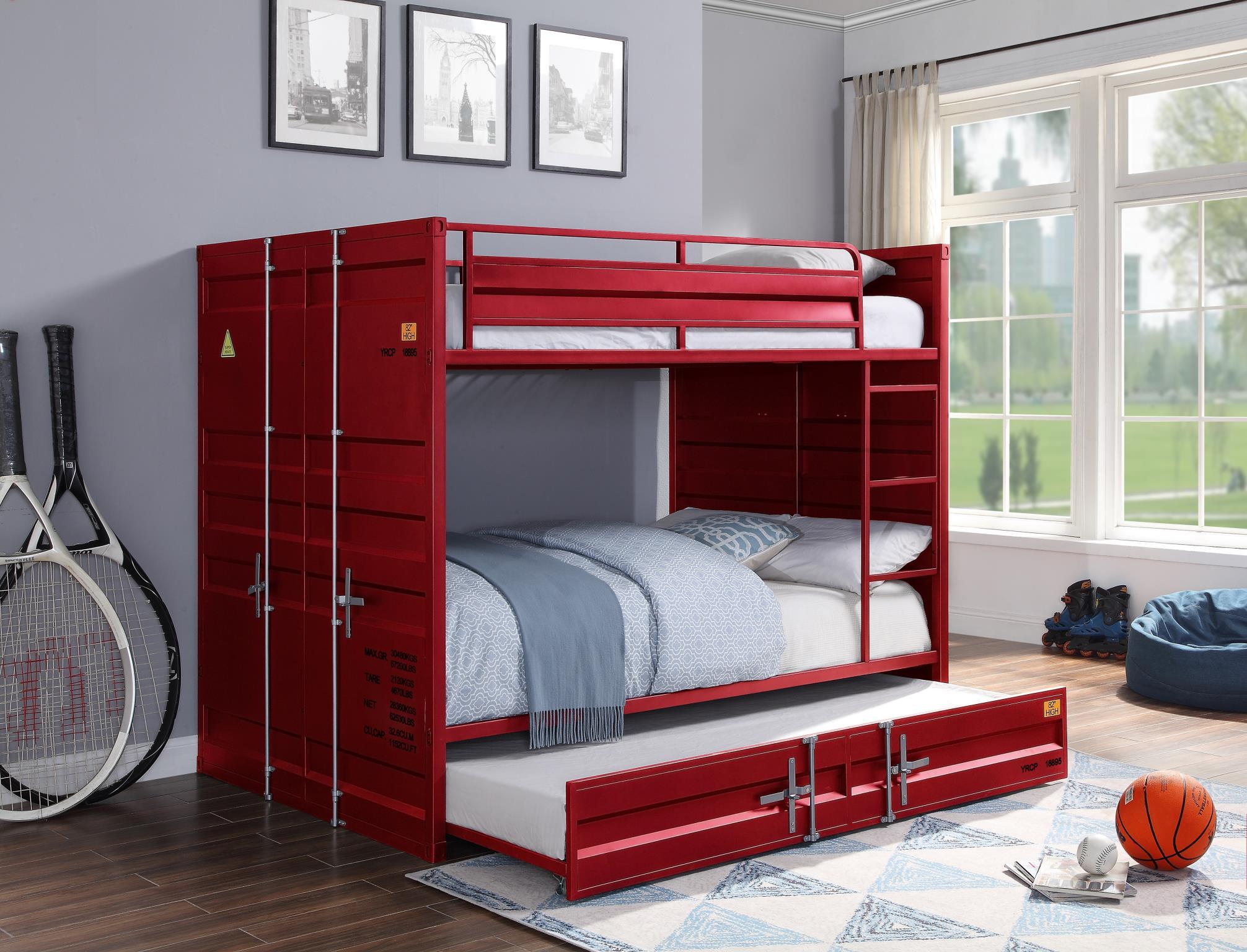 Red Full/Full Bunk Bed