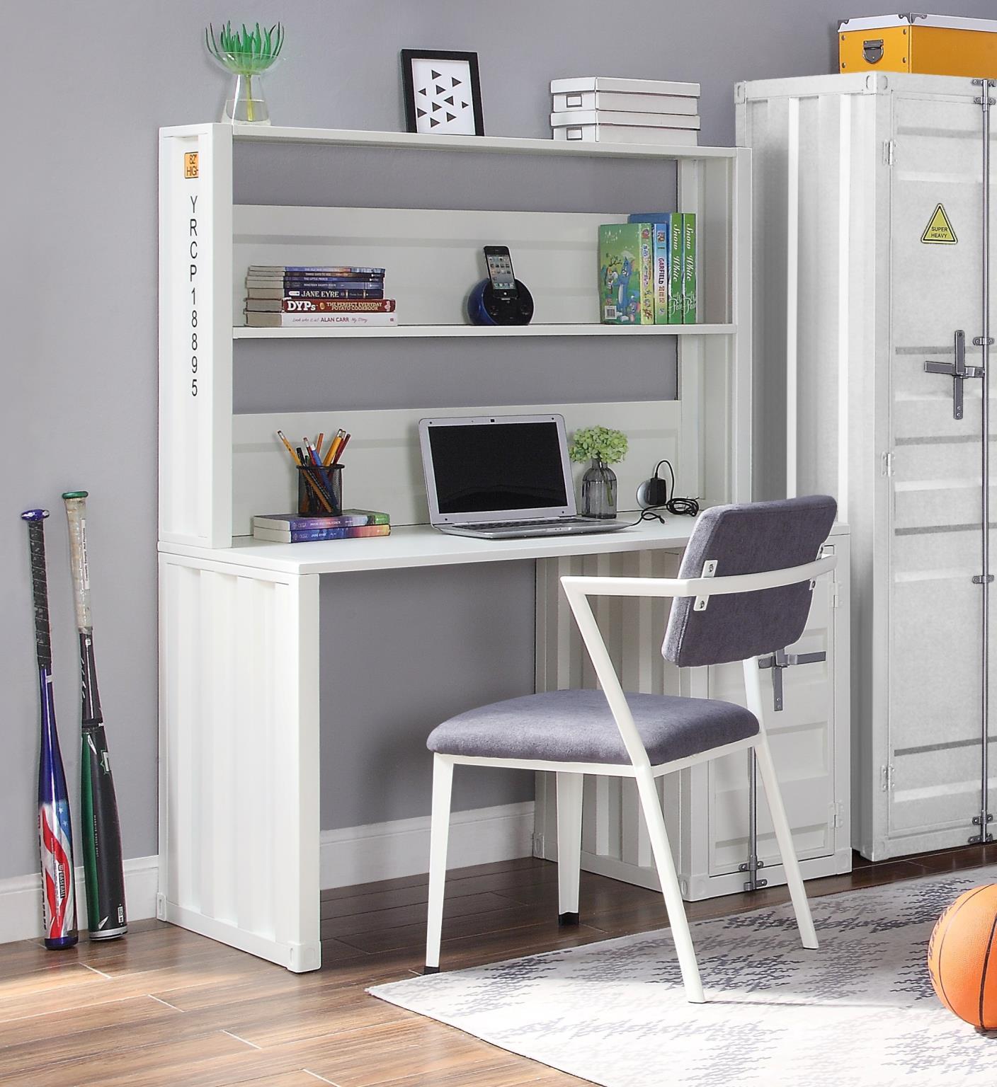 White Complete Desk & Hutch