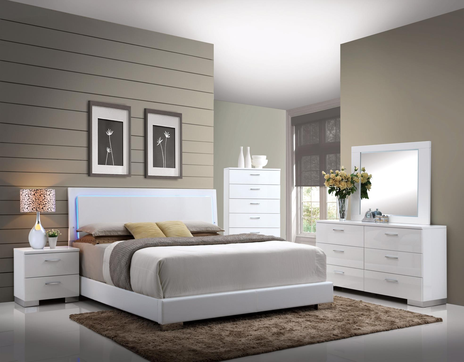 Complete Bed Set w/ LED Headboard