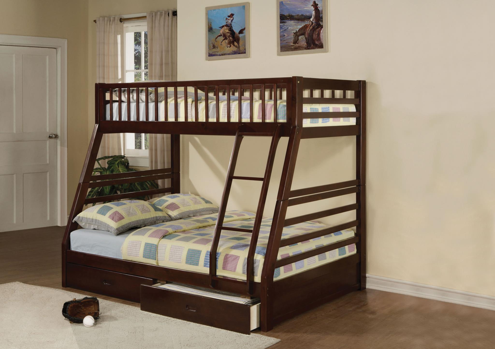 Espresso Twin/Full Bunk Bed