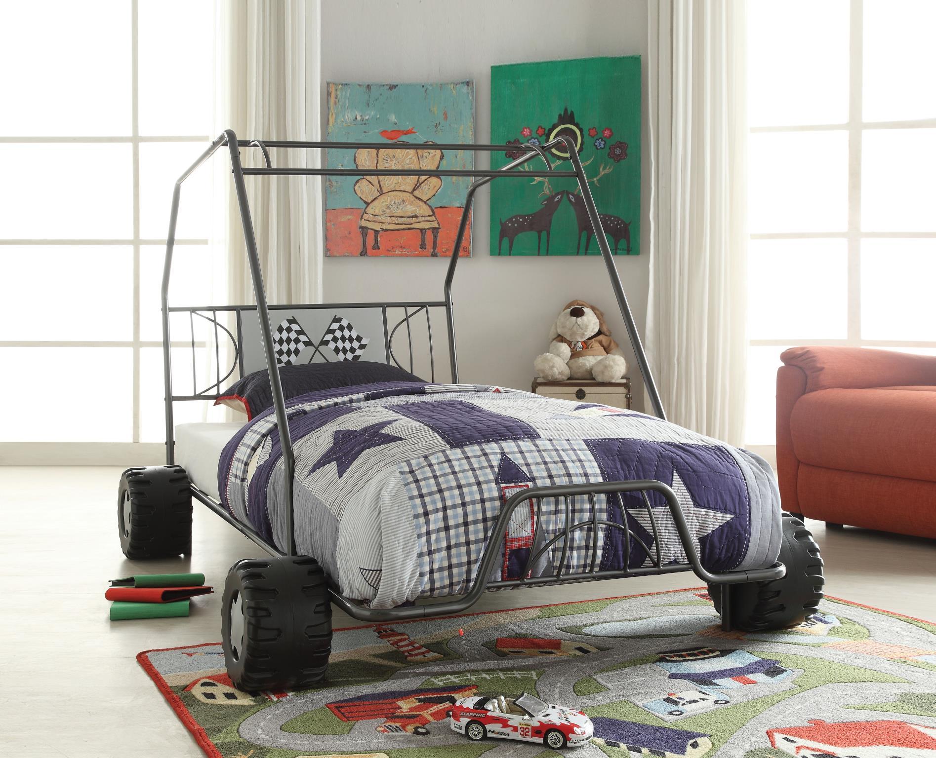 Gunmetal Go Kart Themed Bed