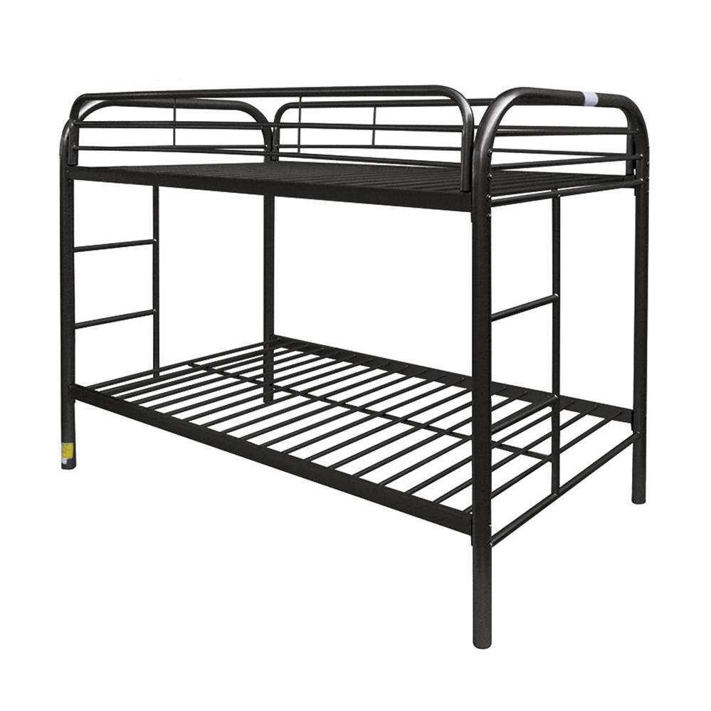Black Twin/Twin Bunk Bed Angle