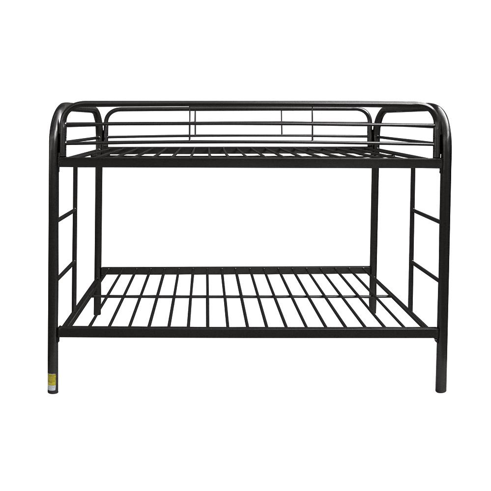 Black Twin/Twin Bunk Bed Front