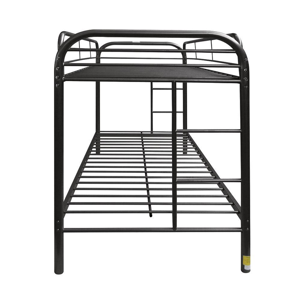 Black Twin/Twin Bunk Bed Side