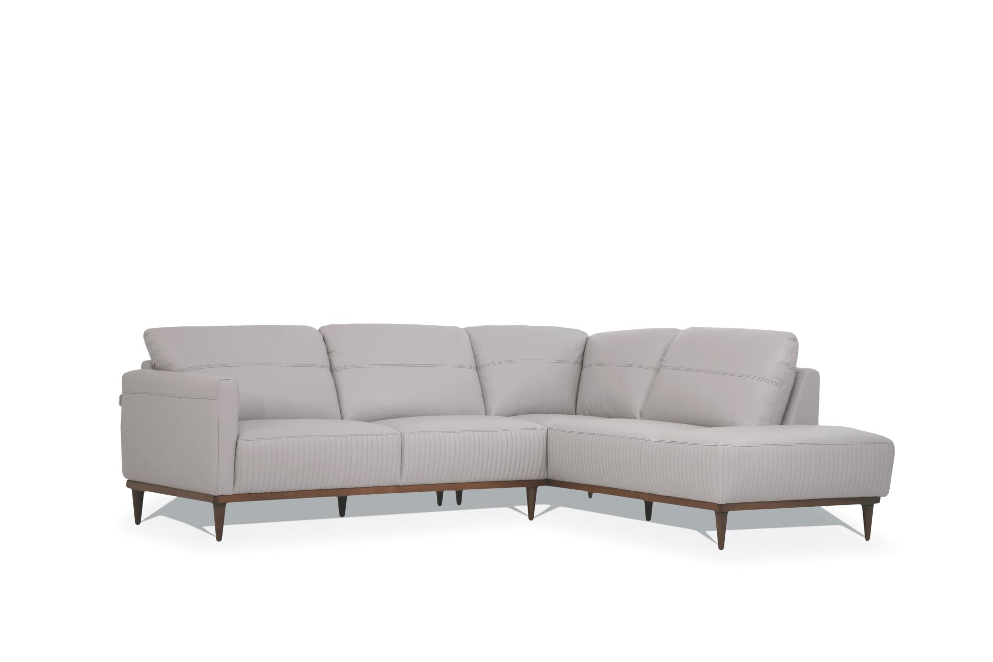Pearl Gray Sectional Sofa w/ Right Facing Chaise Angle