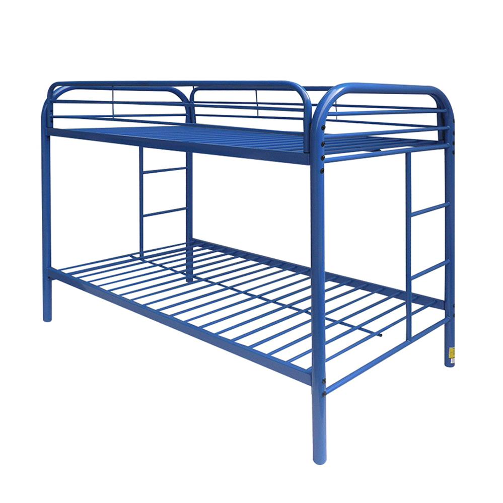 Blue Twin/Twin Bunk Bed Angle