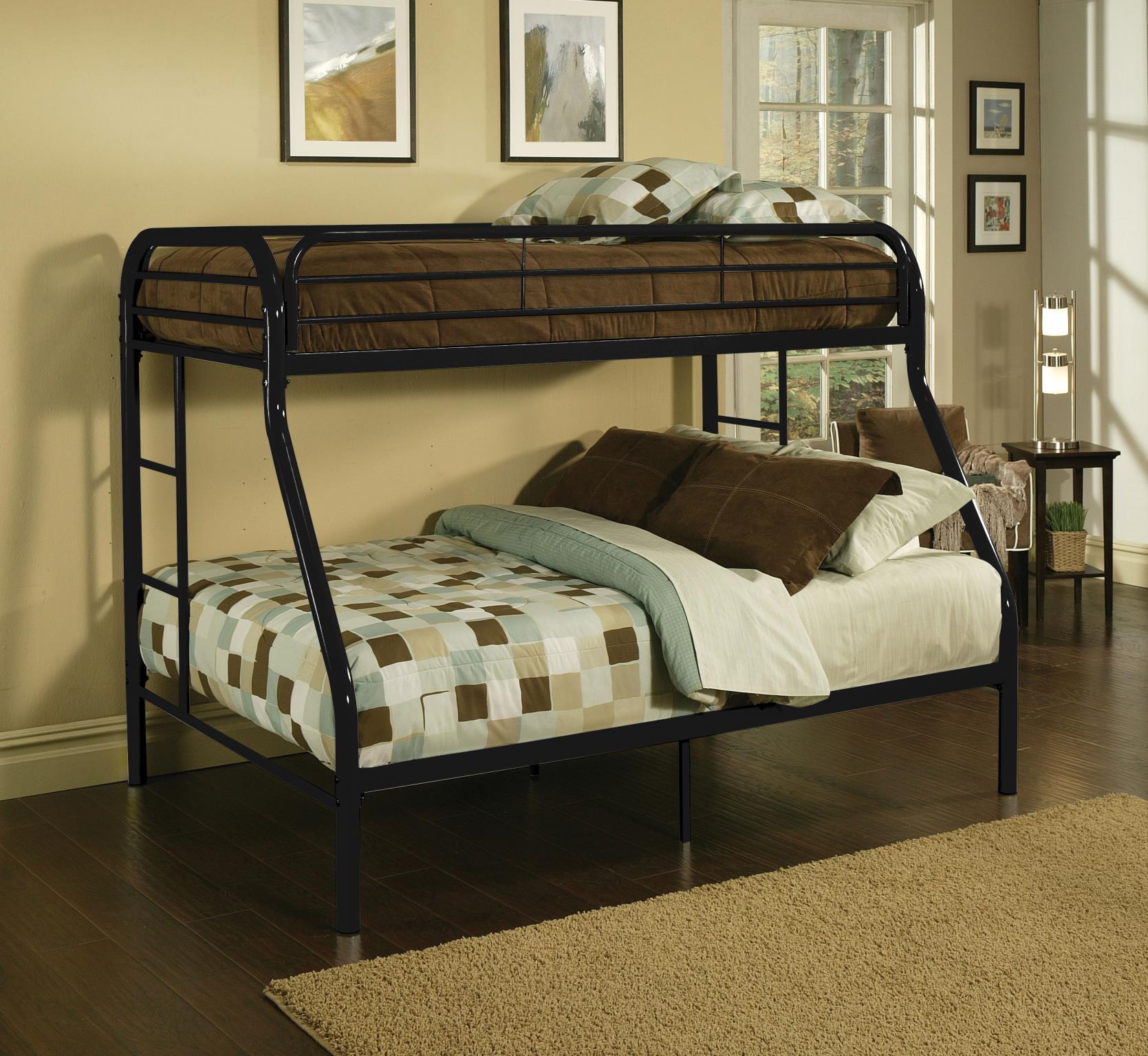Black Twin XL/Queen Bunk Bed