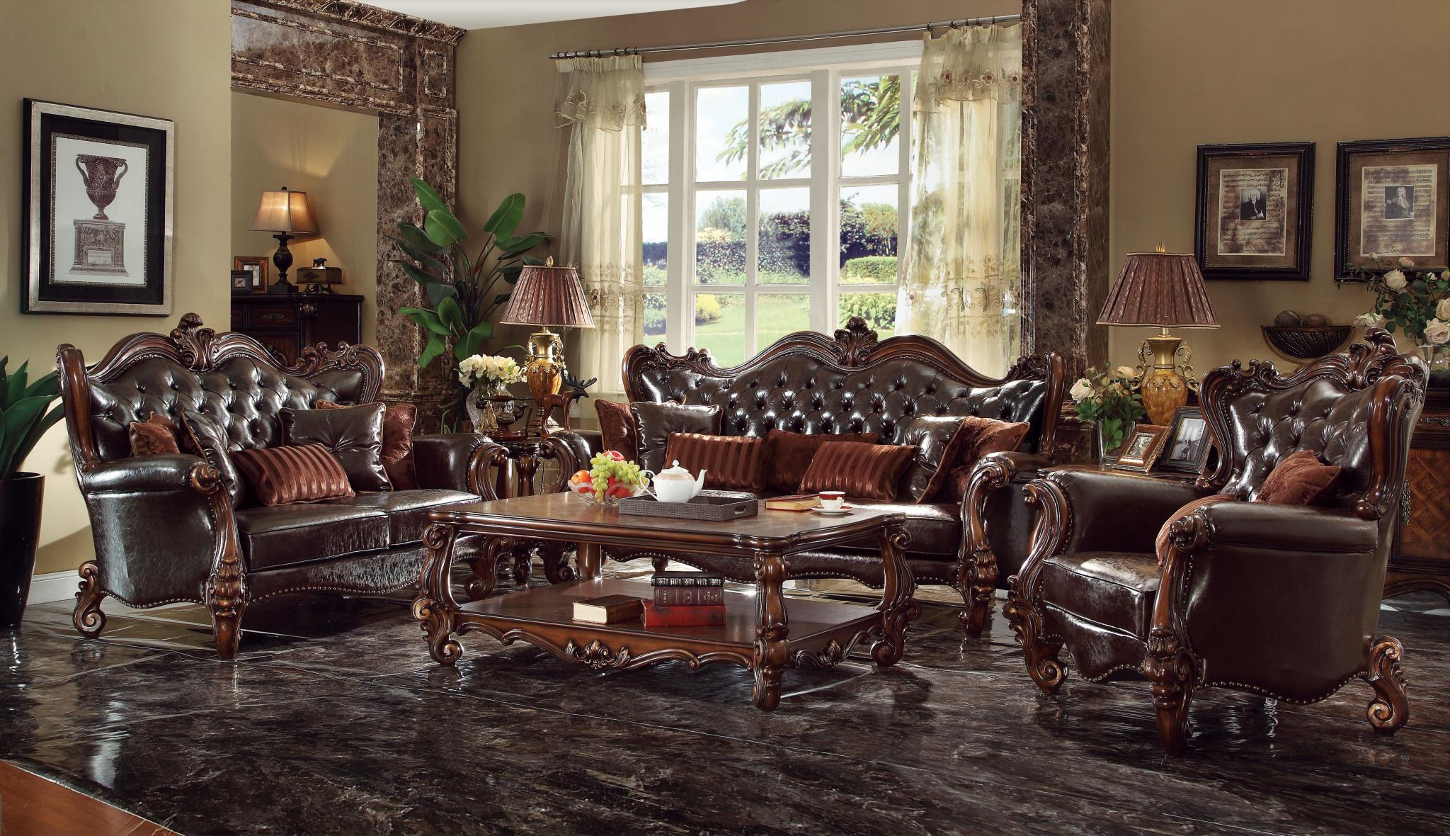 Dark Brown Complete Sofa Set