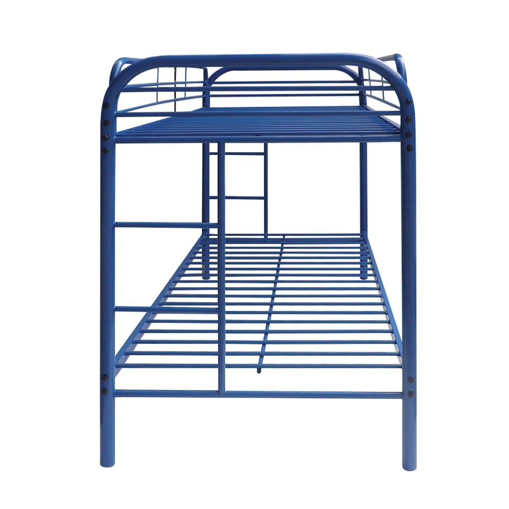Blue Twin/Twin Bunk Bed Side