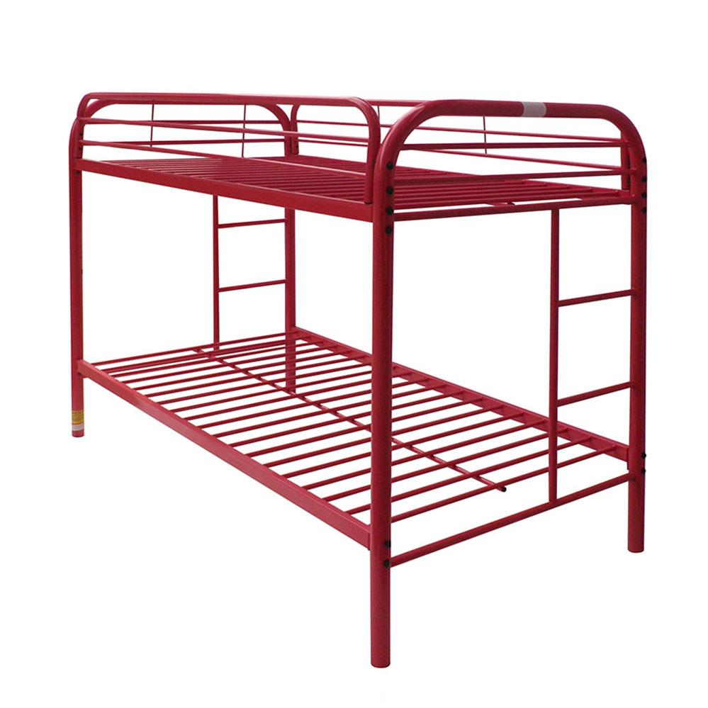 Red Twin/Twin Bunk Bed Angle