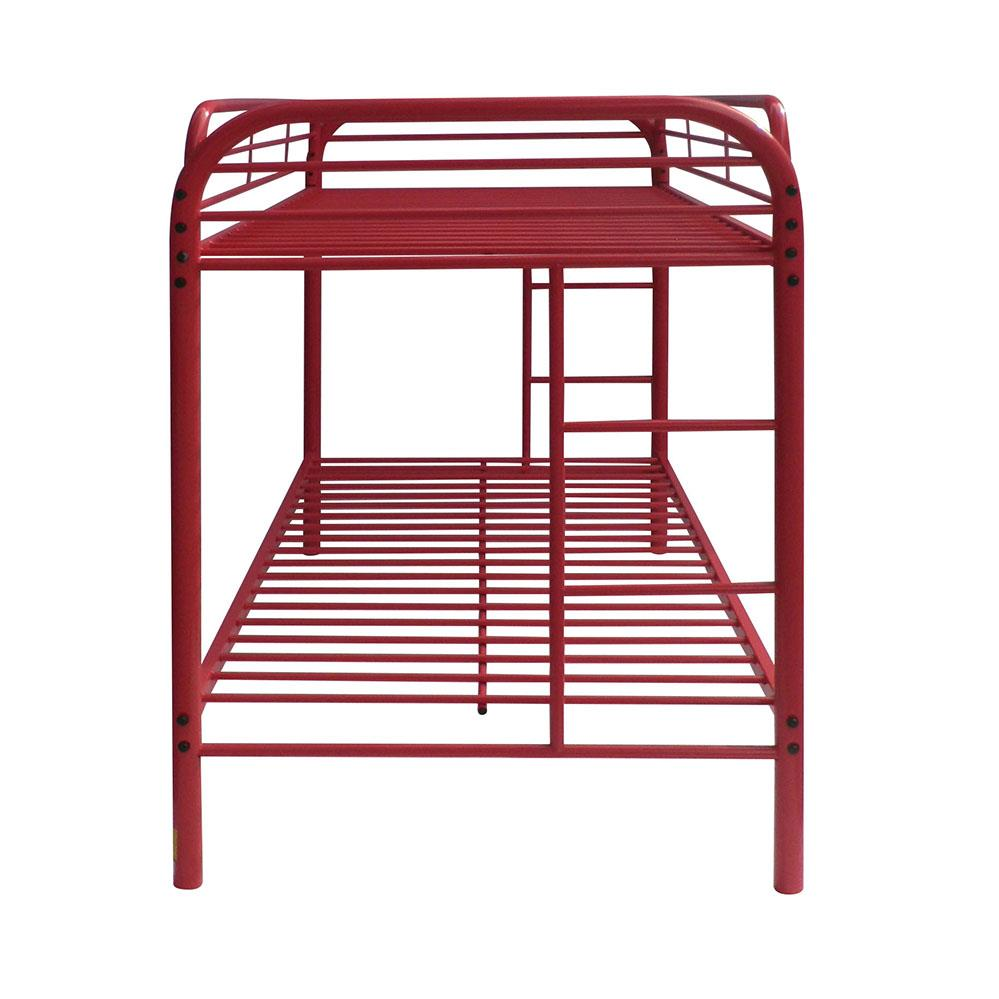 Red Twin/Twin Bunk Bed Side