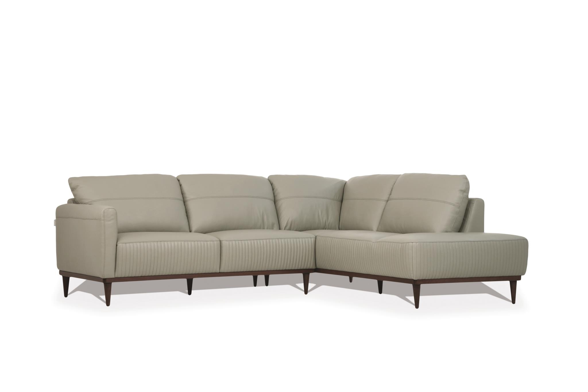 Airy Green Sectional Sofa w/ Right Facing Chaise Angle