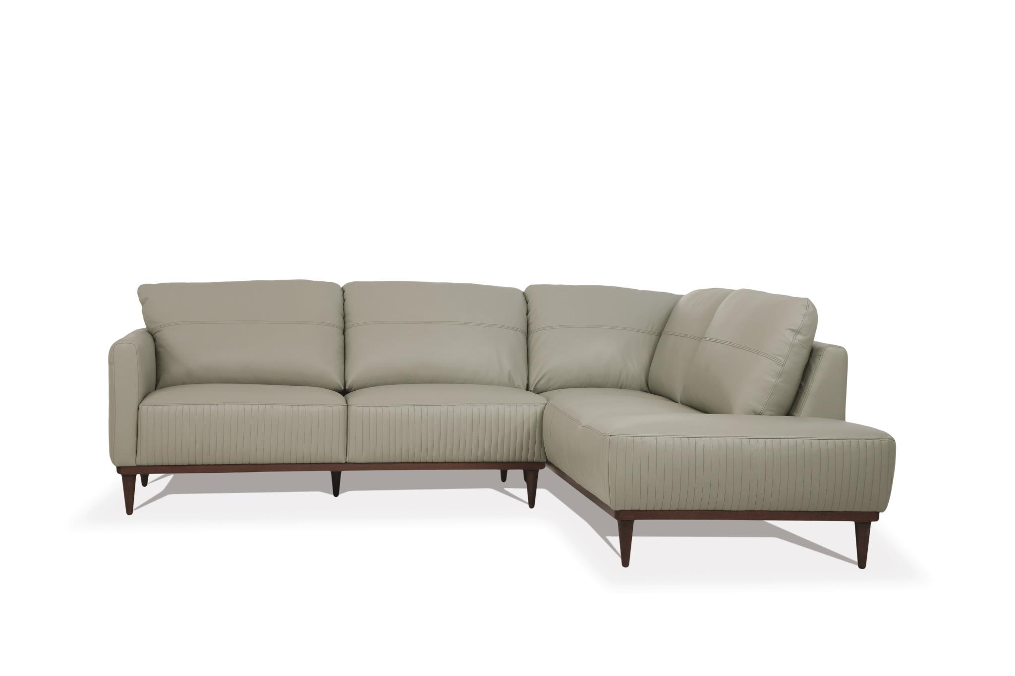 Airy Green Sectional Sofa w/ Right Facing Chaise Front