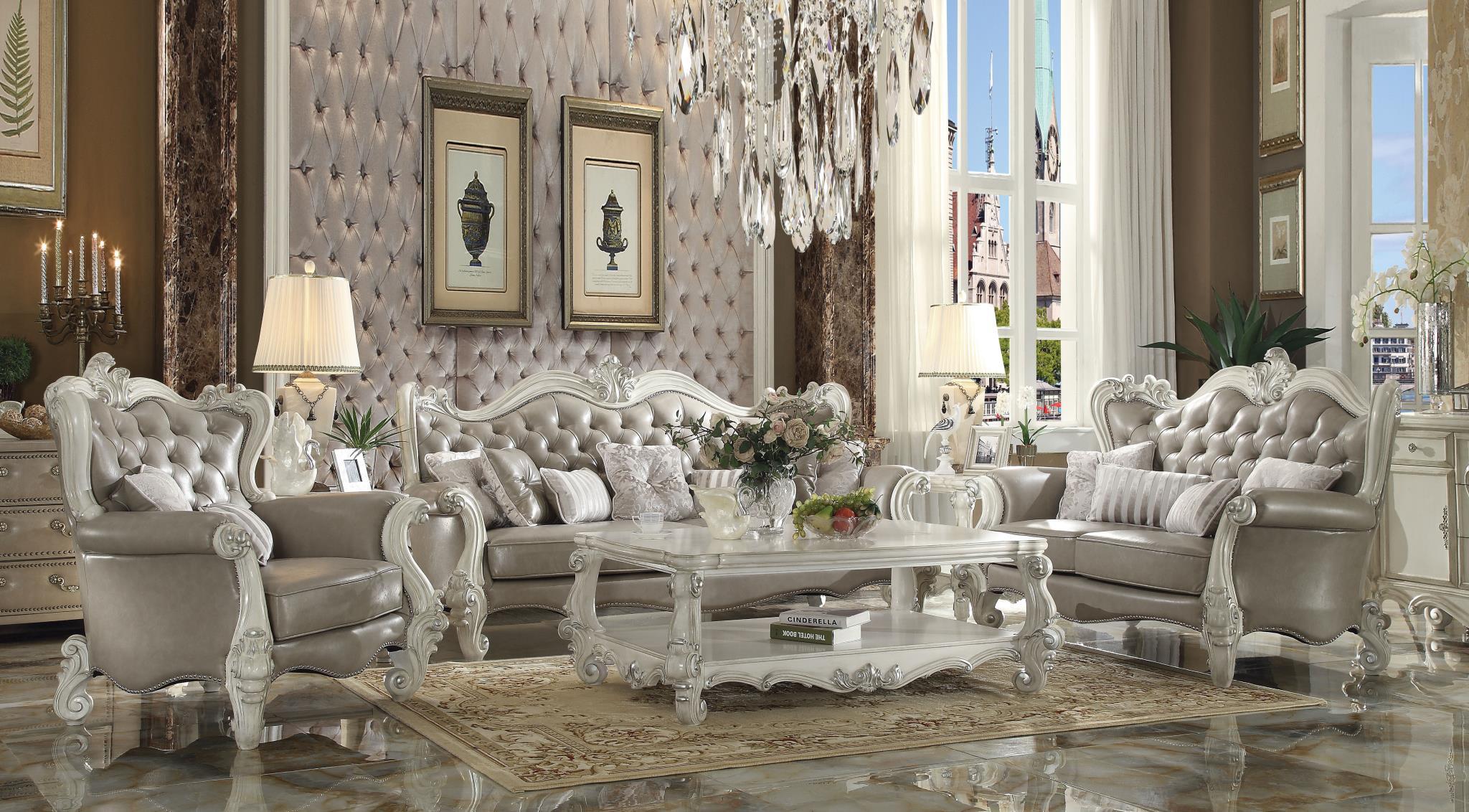 Vintage Gray Complete Sofa Set