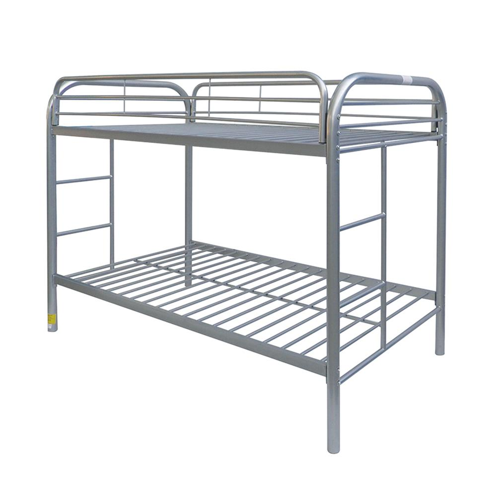 Silver Twin/Twin Bunk Bed Angle