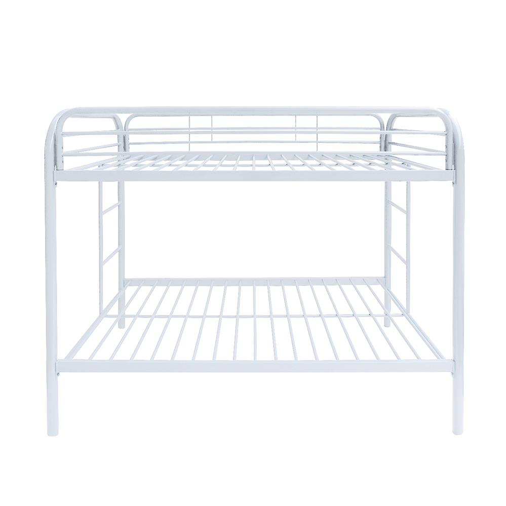 White Twin/Twin Bunk Bed Front