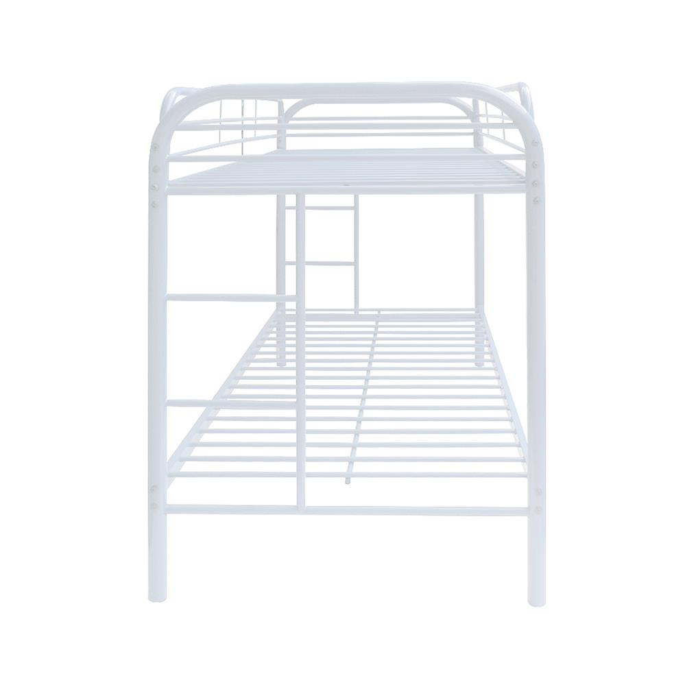 White Twin/Twin Bunk Bed Side