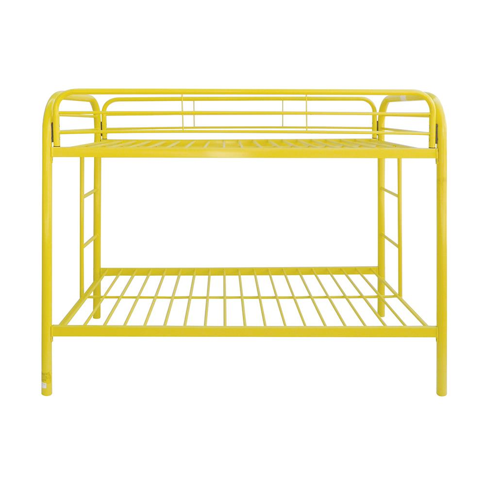 Yellow Twin/Twin Bunk Bed Front