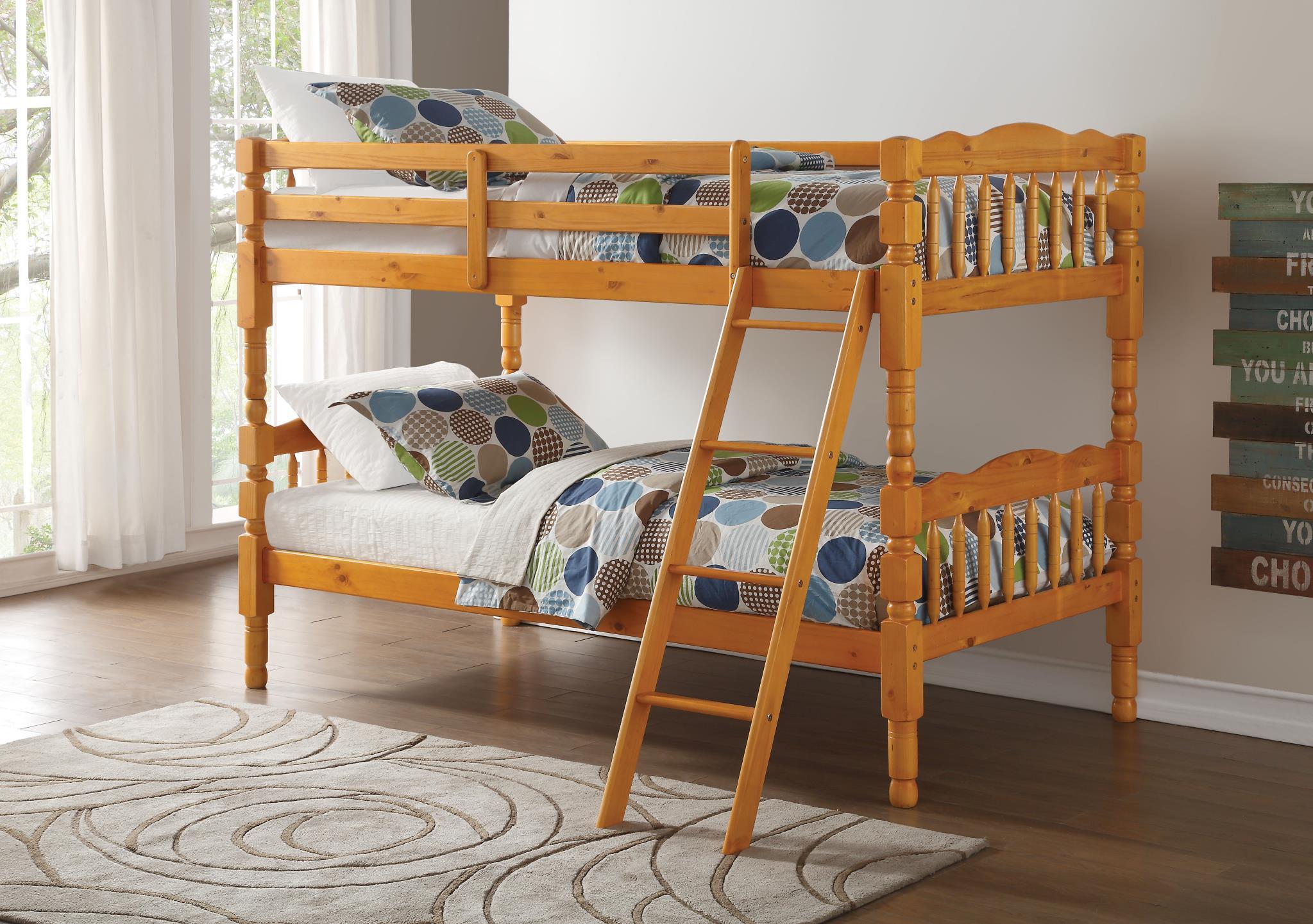 Honey Oak Twin/Twin Bunk Bed
