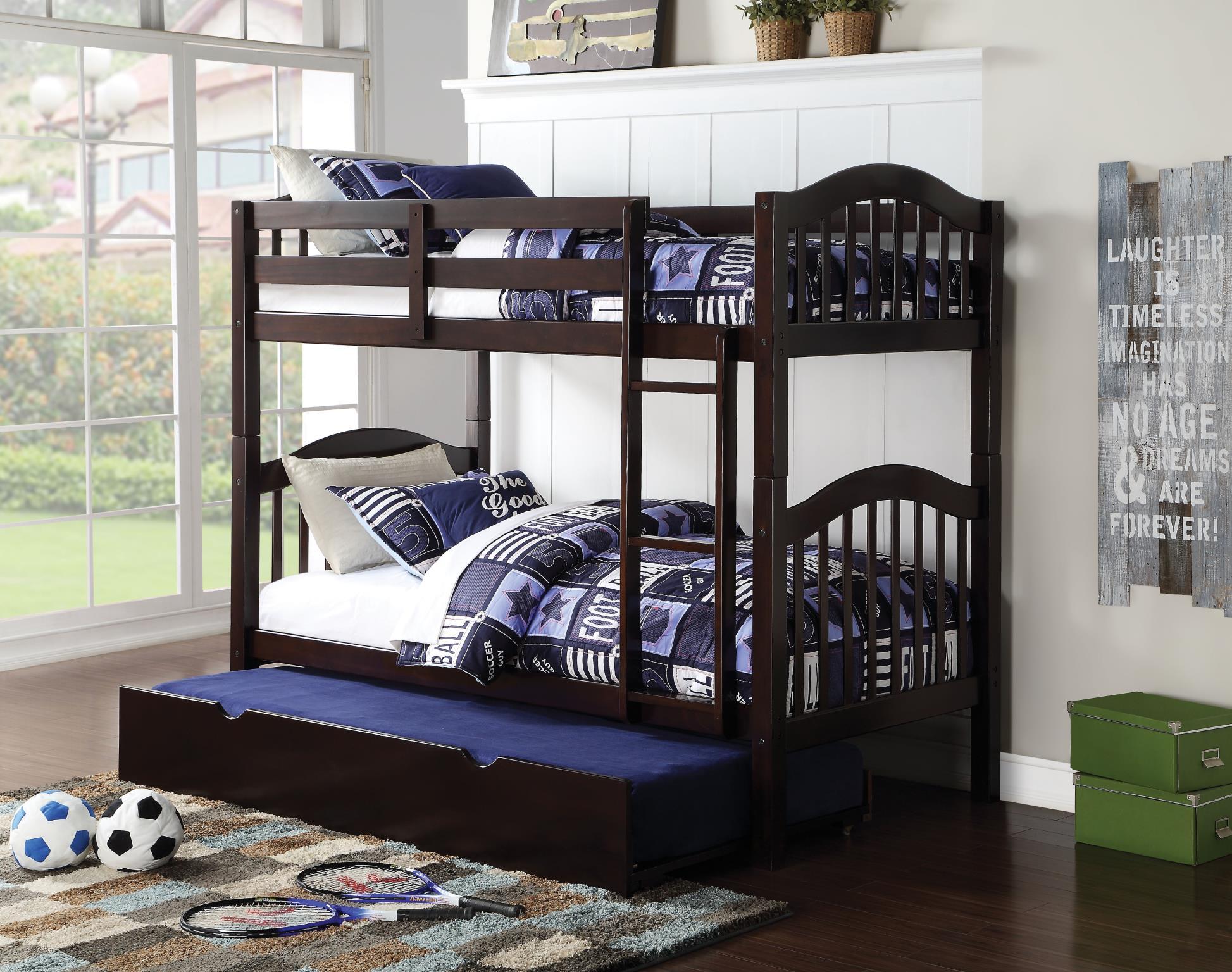 Espresso Twin/Twin Bunk Bed w/ Trundle