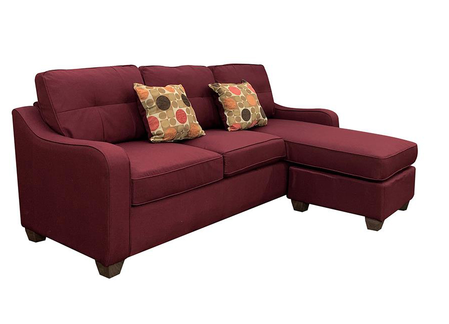 Sectional Sofa w/ Ottoman as Right Facing Chaise Angle