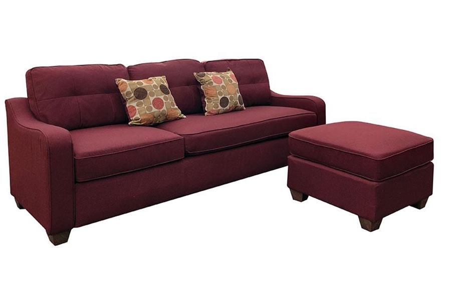 Sofa w/ Ottoman Angle