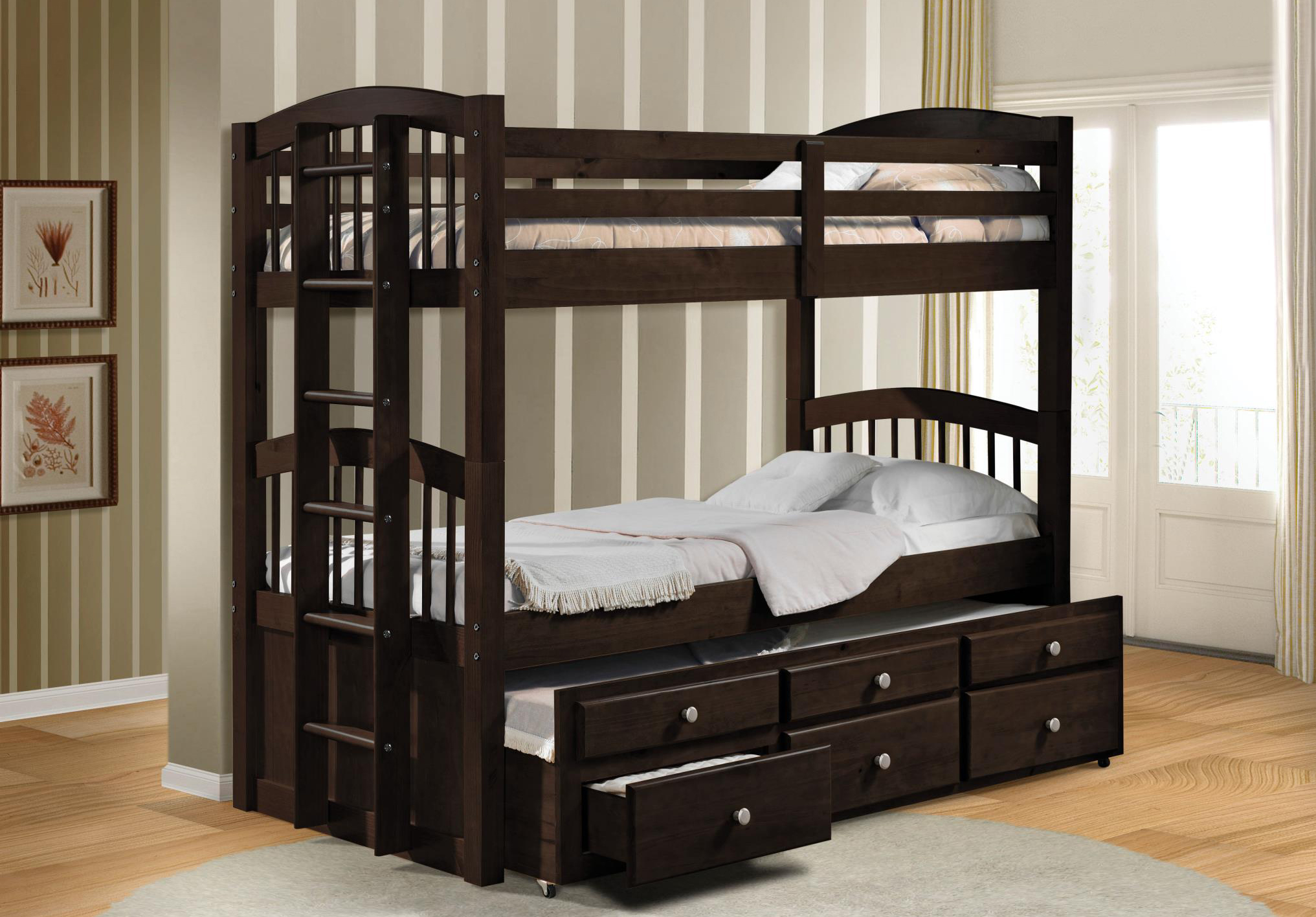 Espresso Twin/Twin Bunk Bed