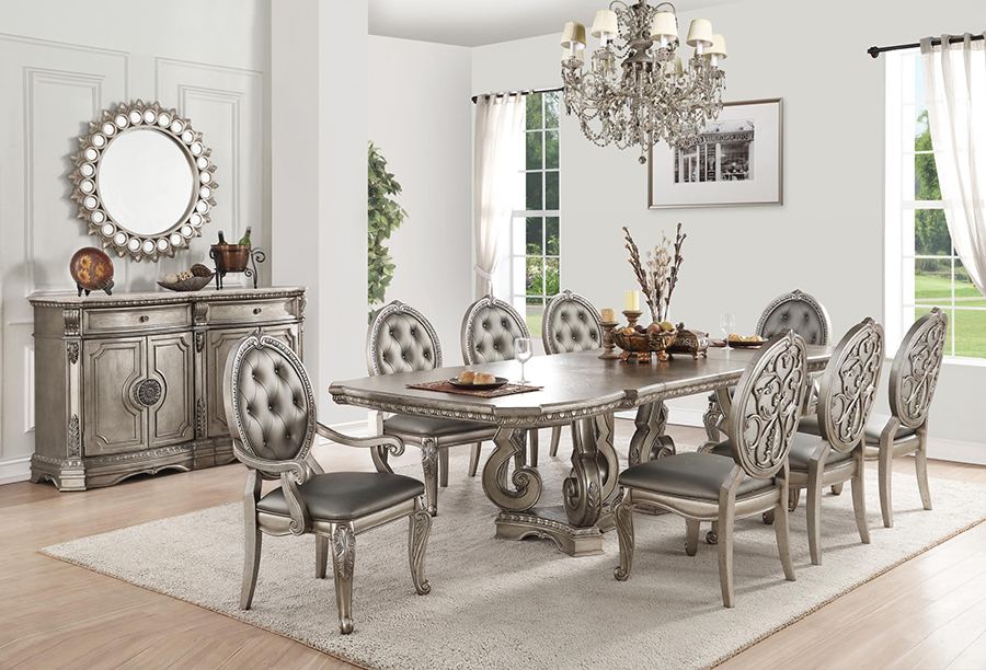 Complete Rectangular Dining Table Set