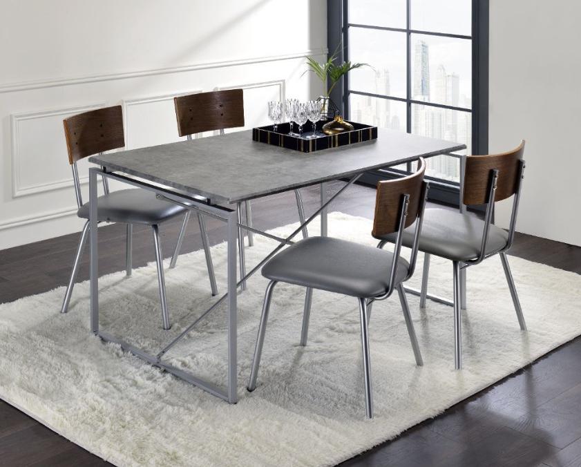 Faux Concrete and Silver Complete Set