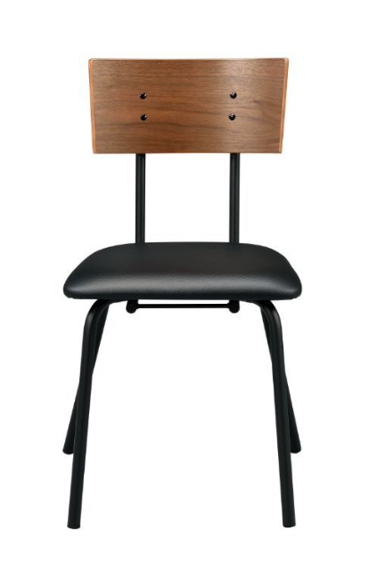 Oak and Black Chair